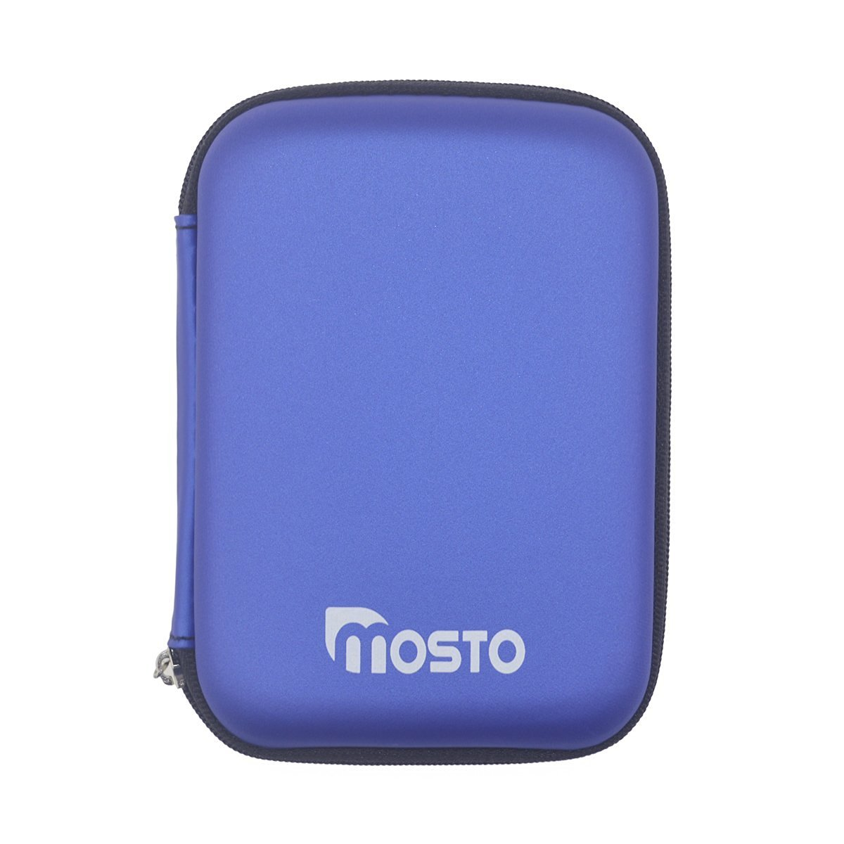 Mosto 2.5 Inch Portable External Hard Disk Drive HDD Carrying PU Travel Case Pouch Cover With Shockproof Waterproof(Blue)