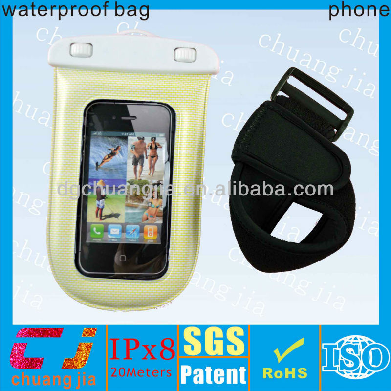 Design cute pvc waterproof mobile phones cover case for fishing