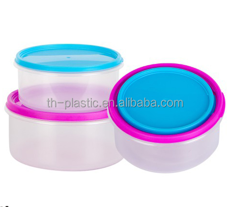 4 pcs round storage boxes and food containers lunch box