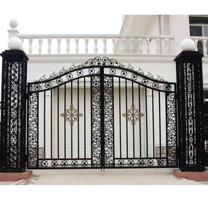 residential house building material wrought iron entry gate