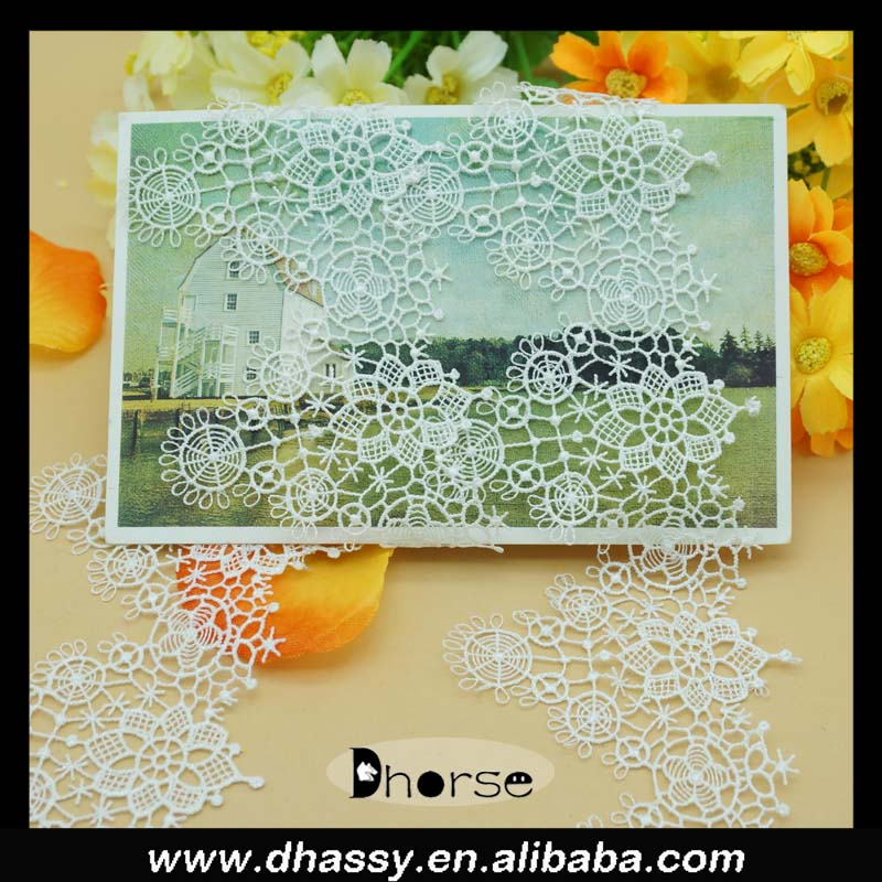 Elegant style Lace Fabric Diy clothes accessories water soluble milk silk lace trim craft sew