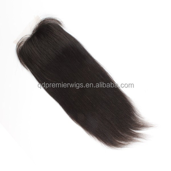 "lace closure raw unprocessed virgin brazilian hair 12"" natural color light yaki"