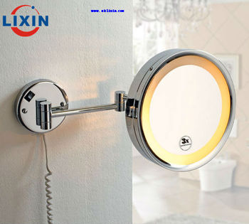 Electric Led Lighted Wall Mounted Shaving Mirror For Hotel Projects