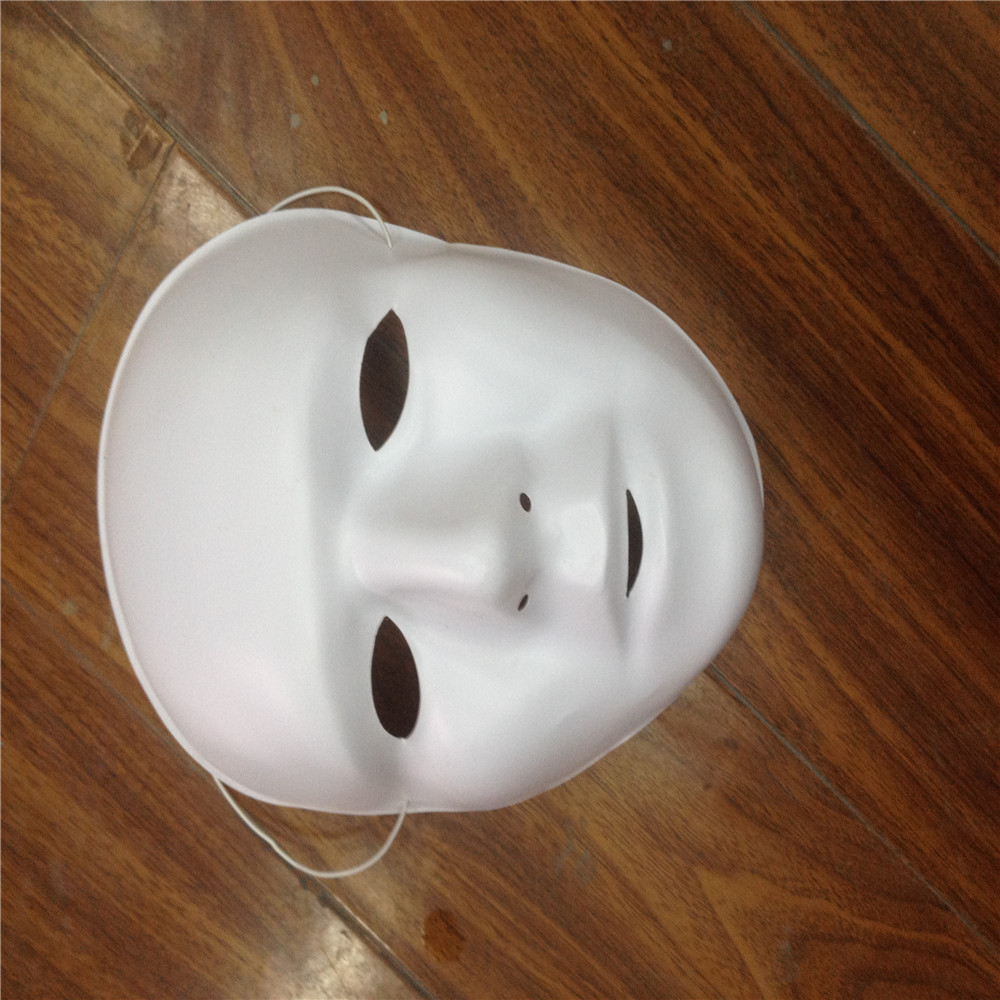 White plastic mask party mask for wholesale
