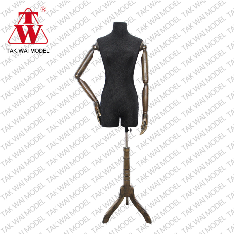 New supplies cover in lace with wooden arm lady mannequins