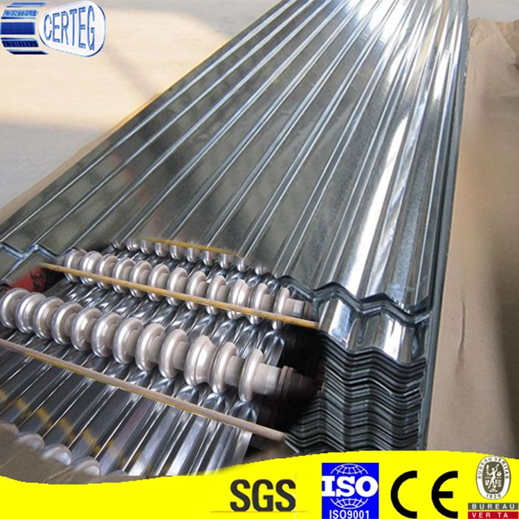 0.12mm Corrugated Galvanized metal roofing sheet roofing tile of wave height 17-18mm