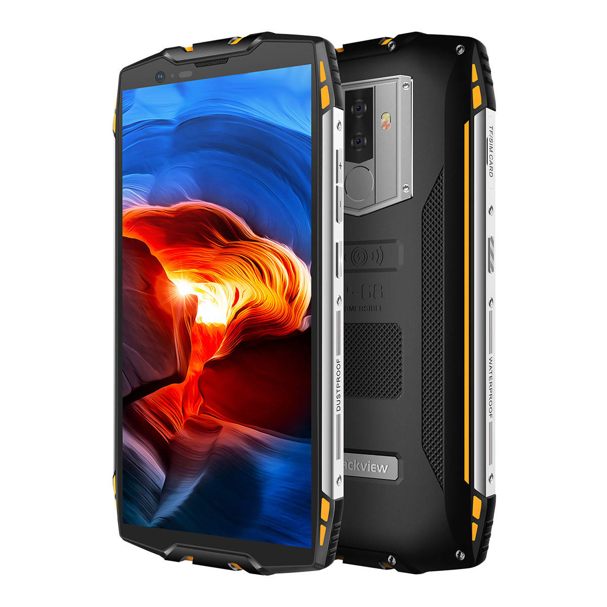 Blackview BV6800 Pro 5.7 Smartphone IP68 Waterproof Octa Core 4GB+64GB 6580mAh large Battery Wireless Charge NFC Cell phone""