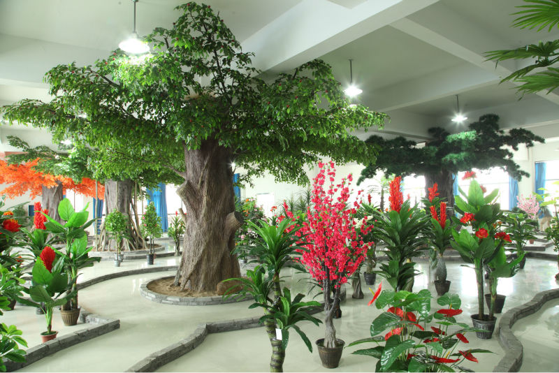 2017 China New Products Outdoor Artificial Money Tree Plant Fake Garden Faux