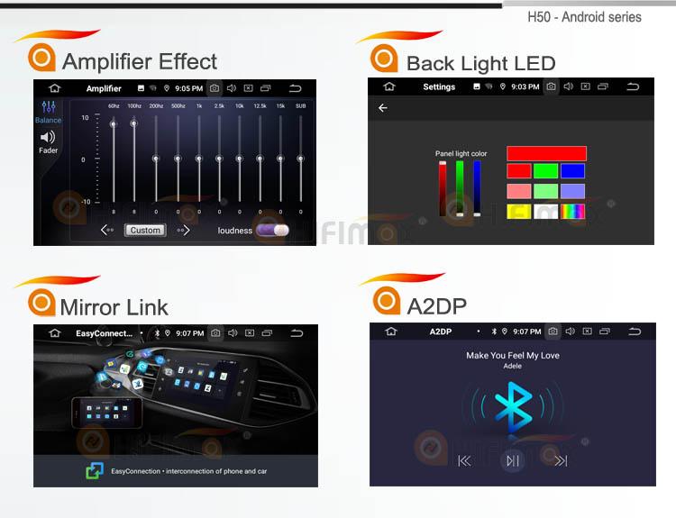 Hifimax Android 6.0 sistema de navegação do carro DVD para Hyundai Santa Fe (2012 ~ 2013) / IX45 (2013 ~ 2014) jogador multimídia com Octa Core