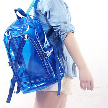 Popular plastic eva transparent pvc back pack bag