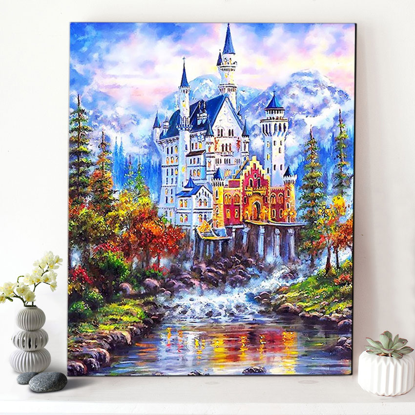 quadri con paesaggi di montagna all\'ingrosso-Acquista online i ...