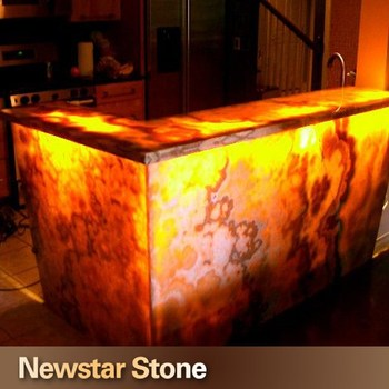 Superbe Chinese High Quality Lighted Onyx Bar Tops