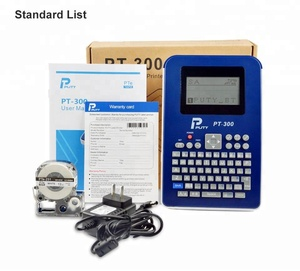 Puty PT-300 portable 18mm label tape cassette label maker printer