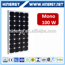 Easy installation 100w 24v solar panel with high efficiency mono 100w solar panels