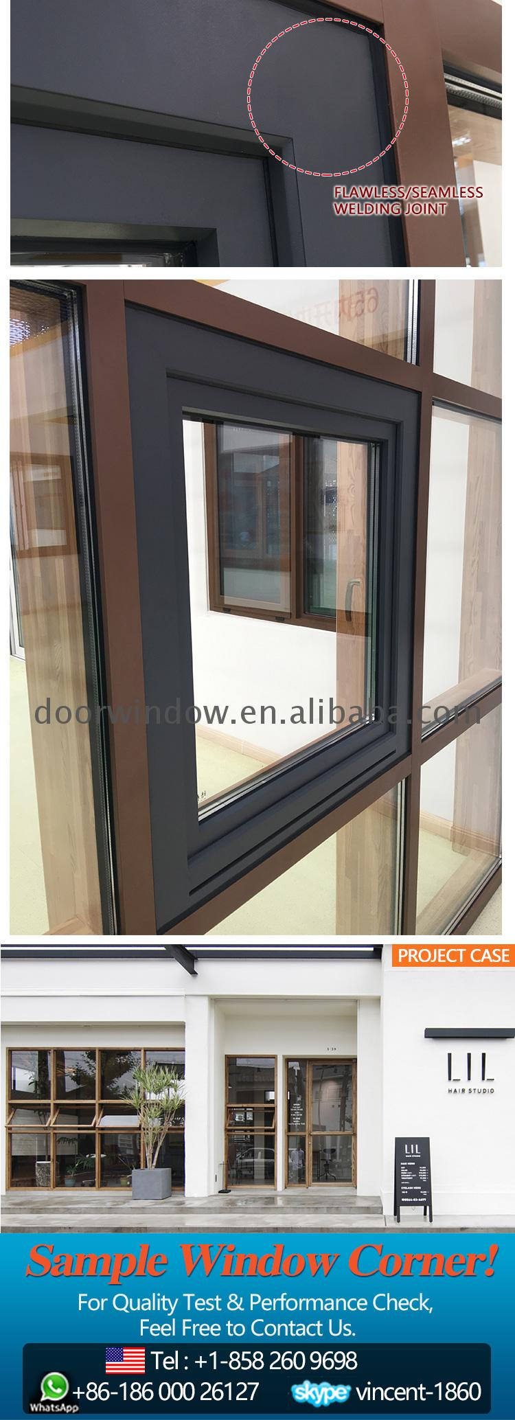 Curtain wall price panel operable window
