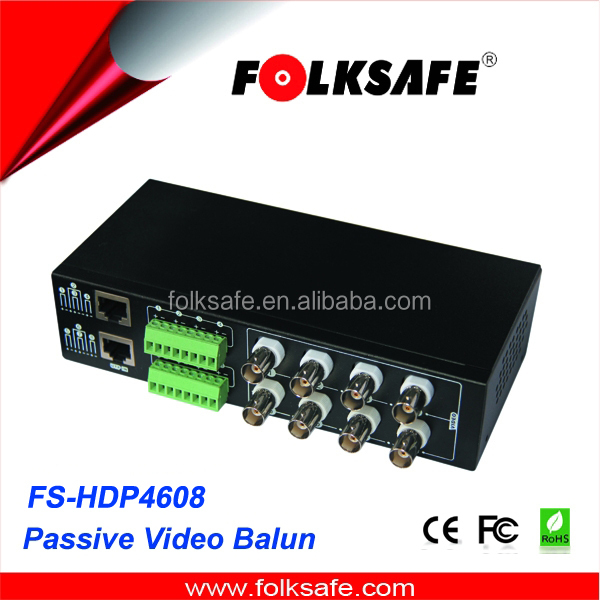 New high definition 8ch passive CVI AHD TVI video balun for security system