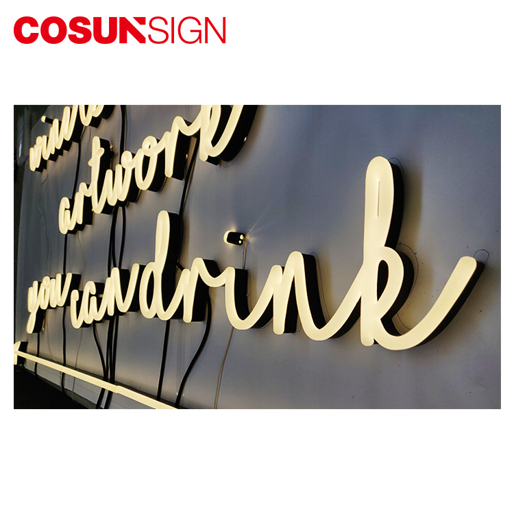 Cosun Sign Hanging Custom Acrylic Small Love Led Neon Light Letter Sign For Bar