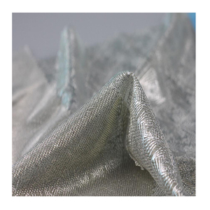 Shaoxing textile ripstop lurex sequin silver glitter metallic polyester fabric construction