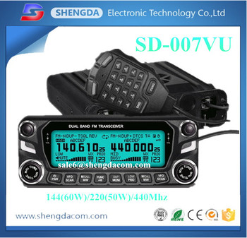 144/220(50W)/440Mhz tri band digital mobile radio or dual band vhf uhf mobile base radio with program cable