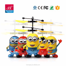 New wholesale USB Chargeable Helicopter Flying Minion toy Infrared R/C flying toy gift for kids