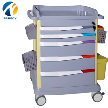 AC-MT025 luxurious  abs  Material Hospital medicine Trolley for sale
