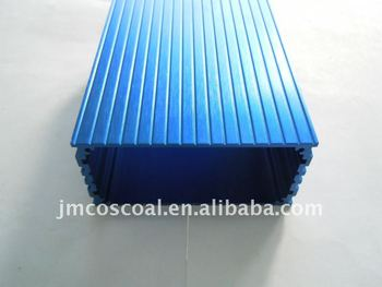 6063/6061 Aluminium enclosure for battery with blue anodizing