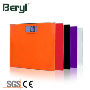 Promotional Electronic Load Cell Battery 150Kg Personal Weighing Scale Black