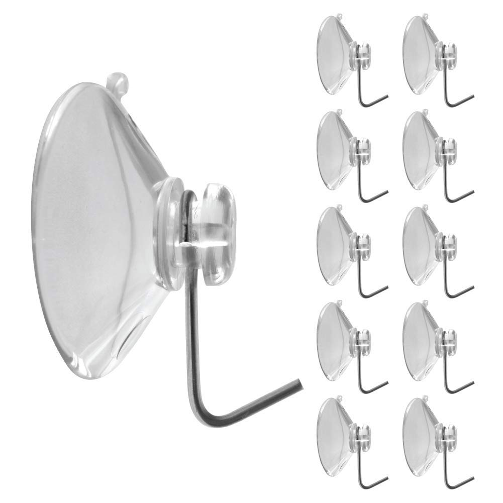 goKelvin Suction Cup with Hook 1-3/4 inch - Made in USA (Medium - 10 Pack)