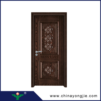 Nigeria Types Cheap Wooden Safety Entry Door Ghana Teak Wood Door