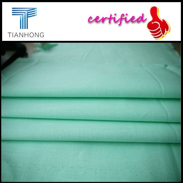 poplin slub cotton dying fabric textile/Uniqlo fabric supplier/nantong factory manufacture wholesale fabric