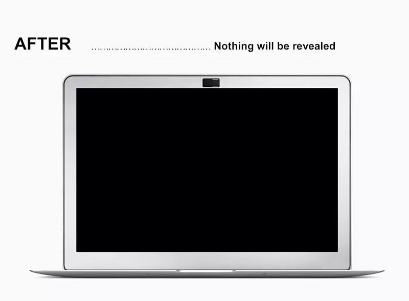 Biologisch afbreekbaar materiaal PLA materiaal WebCam Shutter Cover Web Camera Secure Uw Privacy Protector-Zwart