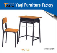 Metal frame cheap price commercial school chairs for sale school tables and chairs YA-T02