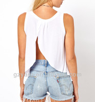 women casual blouse cleavage design