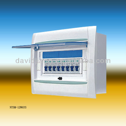 NTSM series 12 WAY plastic distribution box / distribution board
