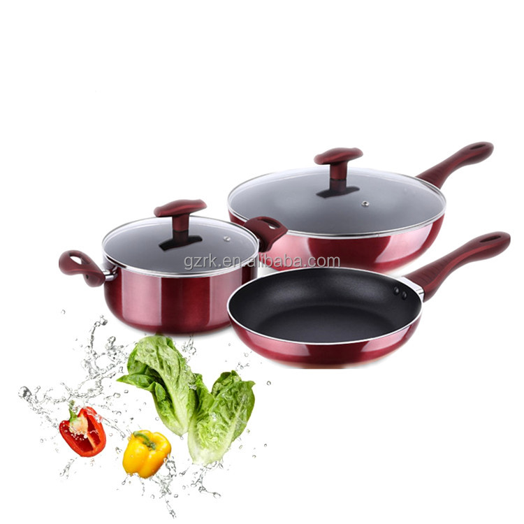 High Quality Camping Stainless Steel Aluminum Cookware Set