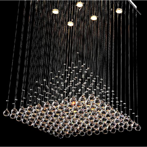 Ceiling Lamp Contemporary Home Decoration Pyramid Design K Crystal