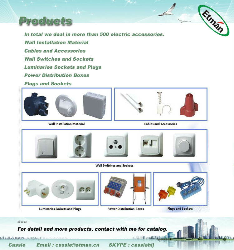 Surface mounting type plastic waterproof IP65 junction box