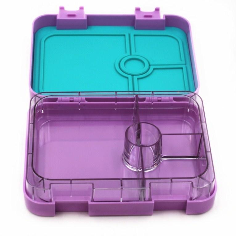 Fiambrera de plástico con 4/6 compartimentos, caja bento para niños