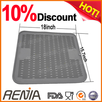 RENJIA dish dry mat silicone glass drying mat boot drying mat