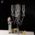 5 lights tall hurricanes wedding table floral  crystal candelabra