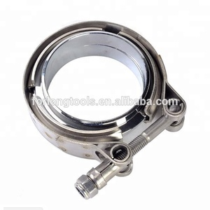 "3"" Turbocharger V-Band Clamps For Turbo Exhaust Pipe Stainless Steel Or Titanium are available ."