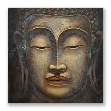 High Quality Modern Abstract Wall Art 3D Paintings of Buddha Head Faces