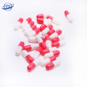 halal gelatin siz 4# pink and white empty capsules for medicine