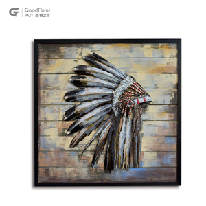 Firsthand Artwork 3D Metal Oil Painting Wall Hanging Picture Acrylic Oil Art for Livingroom