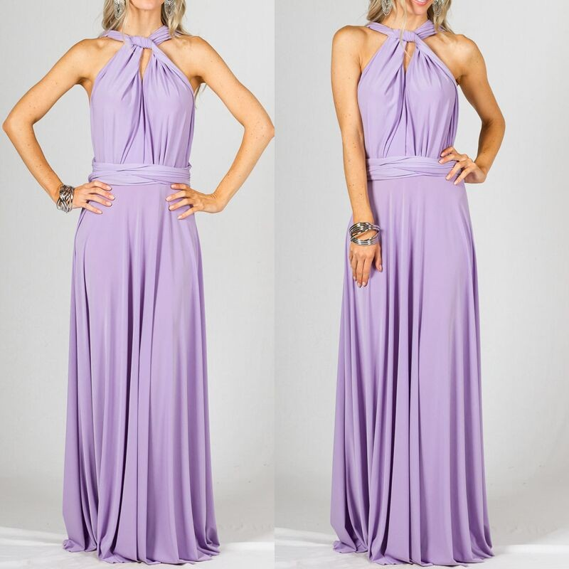 Convertible Multi Way Infinity Transformer Slim Wrap Cocktail Gown ...