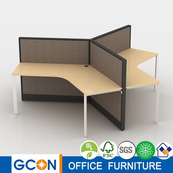 3 person 120 degree office furniture workstation