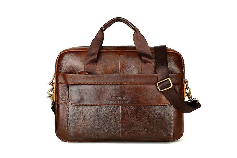 Leather Briefcase Vintage Genuine Leather Laptop Bag Businesss
