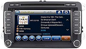 2007-2014 Volkswagen EOS 2012-2014 Beetle In-Dash GPS Navigation DVD CD Player Bluetooth A2DP Audio Streaming 7 Inch Touchscreen FM AM Radio USB SD iPod-Ready iPhone-Ready Stereo Deck 07 08 09 10 11 12 13 14 VW AV Receiver