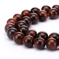 Fashion Wholesale Round Red Tiger Eyes Stone Tiger Eye Beads