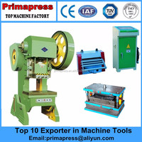 Prima J21-100Ton General Open Back Fixed Table Mechanical Power Press for sheet metal punching